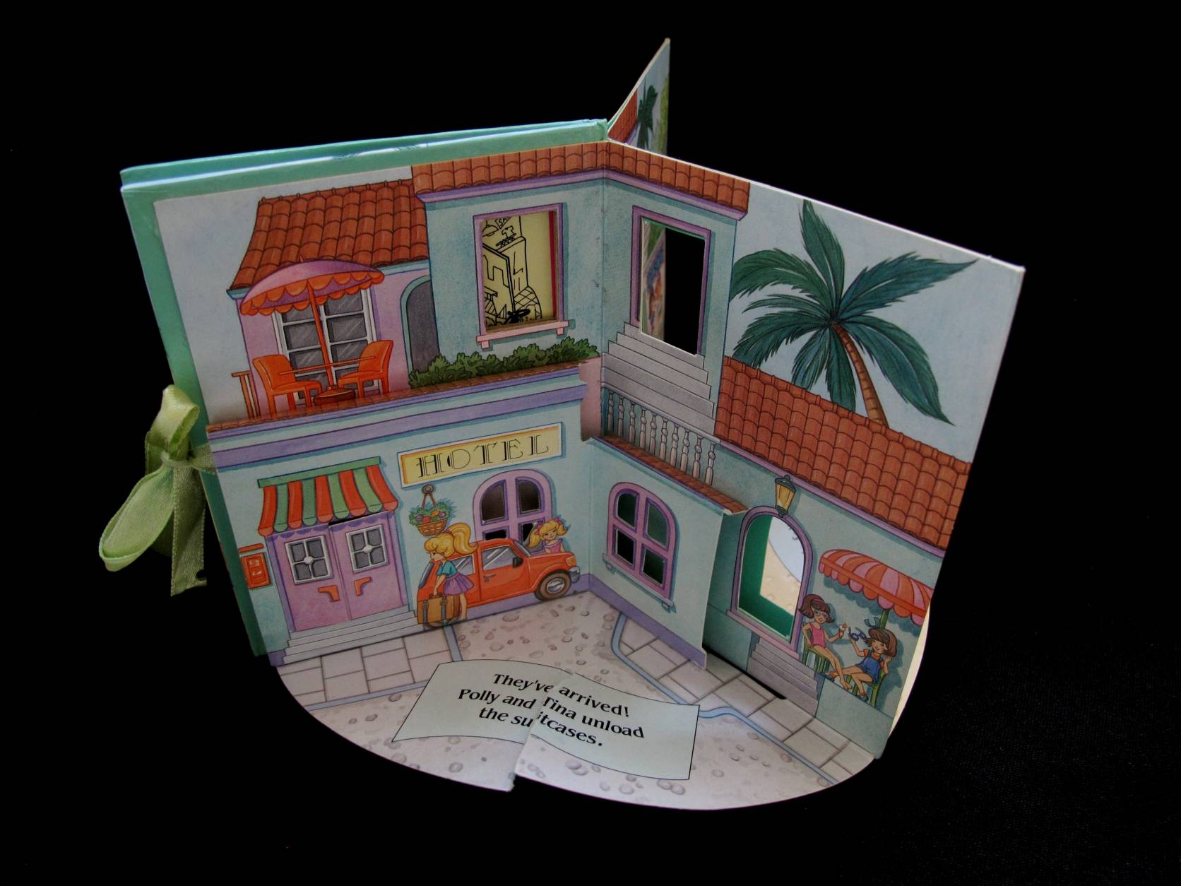 1996 Pop up playset Polly at the beach (4)