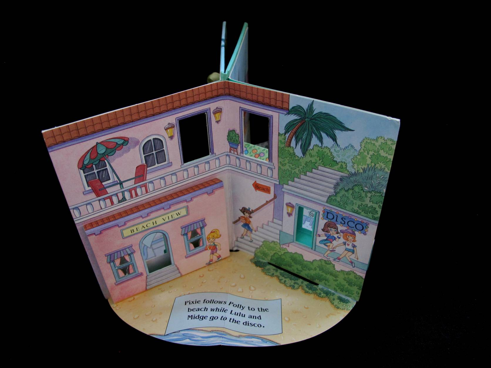 1996 Pop up playset Polly at the beach (5)