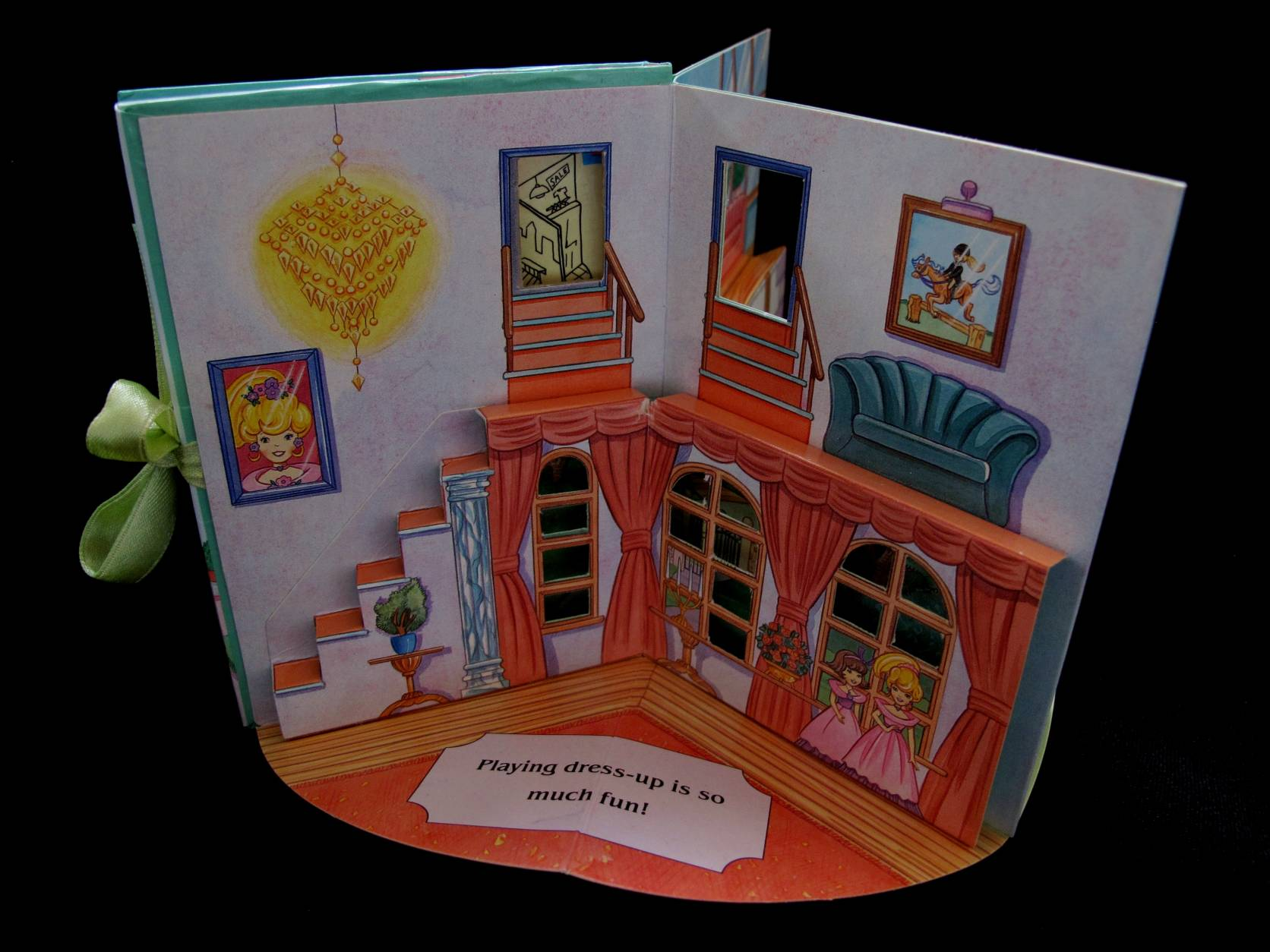 1996 Pop up playset Pollys magnificent Mansion (3)