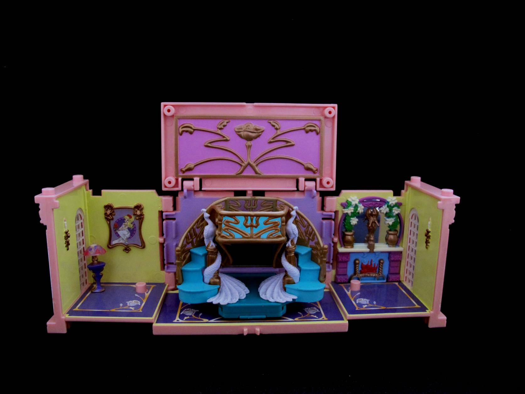 1999 Polly Pocket Dreambuilders Deluxe Mansion Foyer