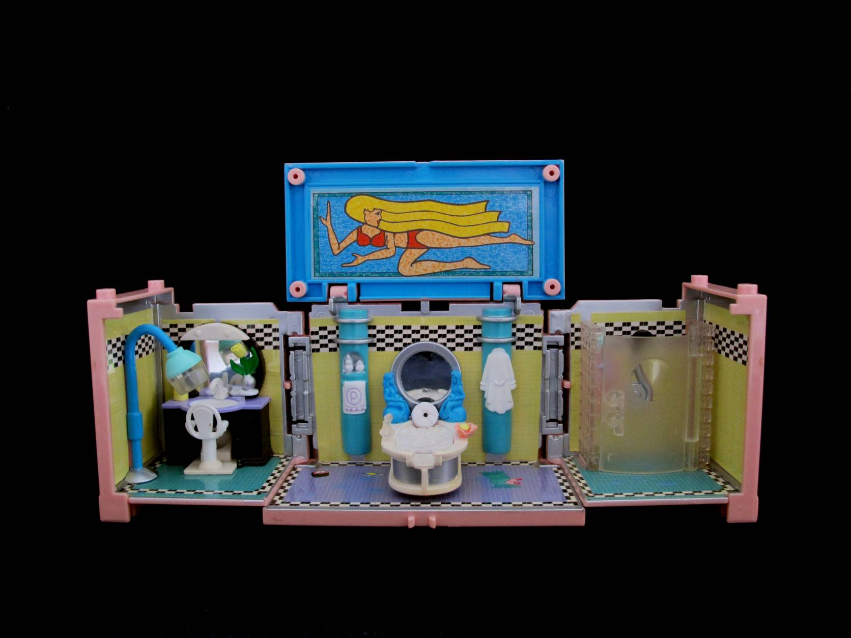 1999 Polly Pocket Dreambuilders Deluxe Mansion bathroom
