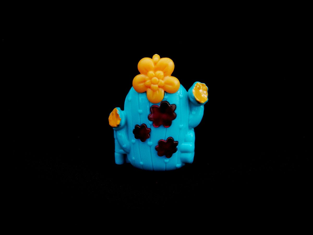 Polly Pocket Tiny Takeaway Cactus Ring Turquoise
